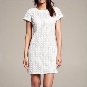 Banana Republic White Eyelet Shift Dress S: 0 (XS)